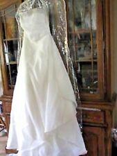 Size 12  beaded wedding gown bridal corset strapless ladies satin dress Jasmine