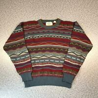 Vintage 90s NORTHWEST TERRITORY Cosby Style Mens Sweater Large | 3D Knit Jumper