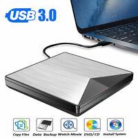 Slim Reader Player External USB 3.0 DVD RW CD For Laptop PC Writer Drive Burner