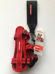 EzyDog Chest Plate Harness RED  SMALL,COMES WITH SEATBELT LOOP