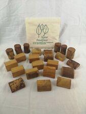 RARE - Building Bricks / Wooden Blocks / Natural Wood - Natur Bauklötze - VGC