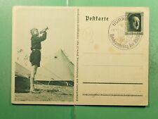 DR WHO 1937 GERMANY NURNBERG SLOGAN CANCEL PATRIOTIC POSTAL CARD  g21411