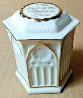 LENOX CHINA TREASURES COLLECTION Religious SPIRITUAL Trinket Box Bible Cross