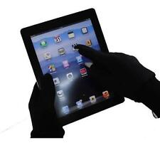 Black Touch Screen Gloves Size Large with Gold Thumb and Finger Tip Mixed Fibre