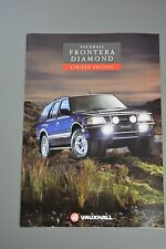 Car Brochure, Vauxhall 1993 Oct Frontera Estate 4x4 Diamond Edition