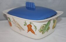 Egersund, Norway - Vintage Lidded Casserole - Vegetables Design - Retro/Kitsch