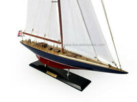 Wooden ENDEAVOUR Model Sailboat Decoration 27""