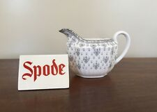 Spode FLEUR DE LYS Grey Bone China 6 oz Creamer ~ England