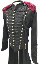 "SDL Military Full Length Coat In Chest Size 46"" Black Braids,Brass Buttons,"