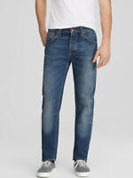 Nudie Herren Tapered Fit Bio Denim Jeans Hose | Steady Eddie 16 Months