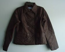 LADIES SOLID BLACK JACKET/MADE BY AVIATOR/  LARGE/ DOUBLE POCKET /100% NYLON
