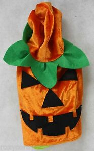 Happy Paws Orange Green Pumpkin Hoodie Dog Pet Costume Size Medium NWT