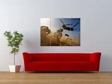 Guerra helicóptero Soldado Desierto Jeep Chinook Gigante impresión arte cartel del panel nor0244