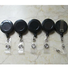 5 ID Card Holder Lanyard Retractable Badge Clip Reel BL