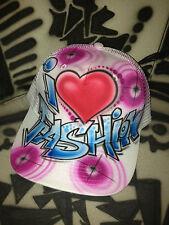 Designer AIRBRUSH Trucker mesh i love fashion style rock graffiti hat cap mütze