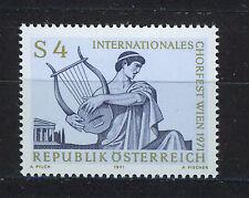 AUSTRIA 1971 MNH SC.900 Intl.Choir Festival