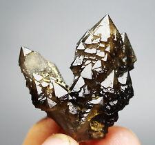 Rare skeletal Elestial BLACK QUARTZ Crystal Cluster Mineral Specimen