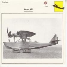 D10757517 Warplane Collectors Card. French Seaplane. Potez 452