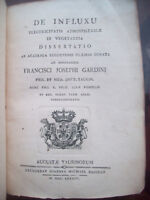 1784 FRANCESCO GARDINI INFLUSSO DELL'ELETTRICITA' APPLICATO AI VEGETALI RARITA'