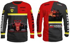 T Shirt Scuderia Ferrari Monza Italy 3D Fan Long Sleeve Mission 2020 Red Racing