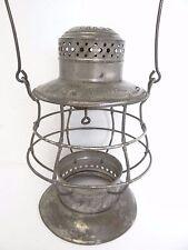 Antique Old Dietz No 6 New York Central Bell Bottom Train Railroad Lantern Cage