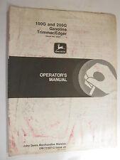 John Deere 100G 200G Gasoline Trimmer Edger Operator'S Manual