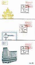 Belgien ATM 4, FDC, Relifil-Brüssel 1985