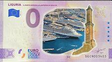 BILLET 0  EURO LIGURIA ITALIE COULEUR  2021  NUMERO DIVERS