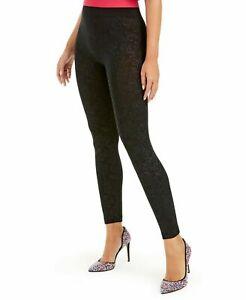 Seamless Leggings Embossed Paisley Print Black Size XL/XXL INC $39 - NWT