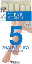 Five Toe Stockings, Knee-High, Nylon, DCY 20 denier 4 colour made in Japan