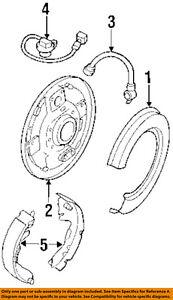 HONDA OEM 96-02 Passport ABS Anti-lock Brakes-Rear Speed Sensor 8970964100