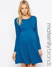 NWT - ISABELLA OLIVER Women's 'CREW NECK' Bali Blue SKATER MATERNITY DRESS - 5
