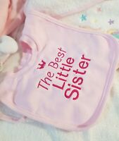 Personalised pop over bib - Pink Blue White - dribble on drool catcher