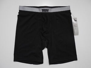 Levis Commuter Training Short Long Boxer Briefs Small Black Reflective NWT