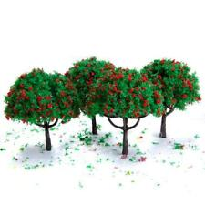 20pcs 2.7 inch Green Train Scenery Landscape Model Trees Toy Scale: 1:100