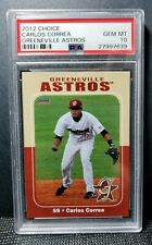 RARE 2012 Greeneville Astros CARLOS CORREA GEM MINT PSA 10 (RC) LOW PSA POP 9!
