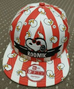 Rodnik x New Era x Peanuts Snoopy POPCORN CAP HAT Limited 9FIFTY Snapback RARE!