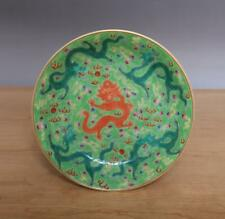 Qianlong Signed Antique Chinese Famille Rose Dish W/dragon