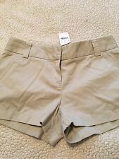 (H14) Women's NWT J Crew City Fit Chino Short Size 4 Khaki