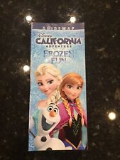 Disneyland California Adventure Frozen Elsa Anna Olaf Park Map and Guide