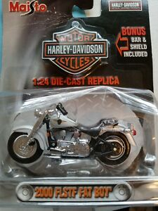 2000 FLSTF FAT BOY Harley Davidson 1:24 Die Cast Replica
