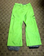BURTON Green Solid Polyester Cargo Ski Snowboard Snow Pants Size S HH3024