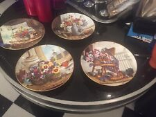 W J George Floral Collector Plates Lot Of 5