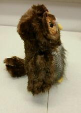 "Ganz Owl Plush Webkinz chocolate brown multi plush stuffed animal toy 10"" Xmas"