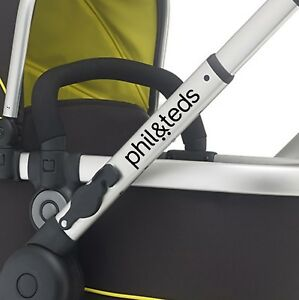 PHIL & TEDS Replacement pram logos. Vinyl decal pushchair, stroller. sticker