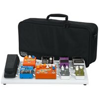 Gator GPB-BAK-WH Large WhiteGuitar Effects Pedal Board w/ Carry Bag & Bracket