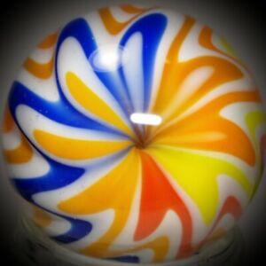 "Rick Davis~HOT AIR BALLOON ~Glass Marble 2012~SIGNED~42MM/1 & 1/2"""