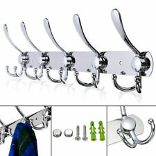 15 Hooks Coat Clothes Door Holder Rack Wall Mounted Hanger Stainless Steel