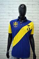 RALPH LAUREN Maglia Uomo Polo a Righe Manica Taglia XL  Shirt Men's Herrenhemd