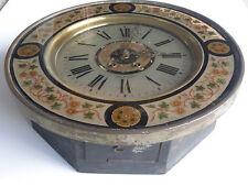 Horloge ronde oeil de boeuf , en verre églomisé , cadran Thiébault à Belfort